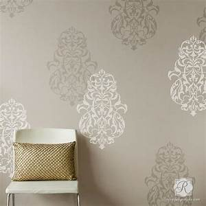 paint templates for walls - turkish ornament wall art stencils for painting large