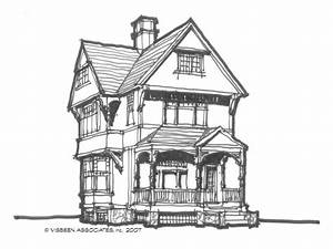 Simple Victorian House Sketch Cartoon Victorian House ...