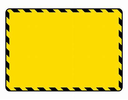 Construction Signs Clipart Warning Clip Blank Birthday