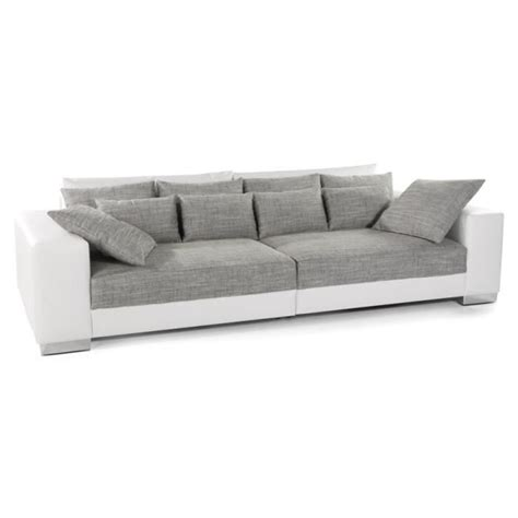 grand canapé 5 places grand canapé droit 39 quartz 39 blanc gris 4 places achat