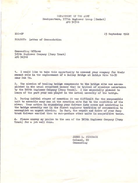 letter of commendation 585th unit awards