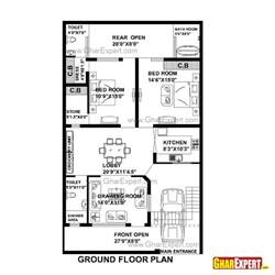 best house plan websites house plan for 33 by 55 plot plot size 202 square yards gharexpert com