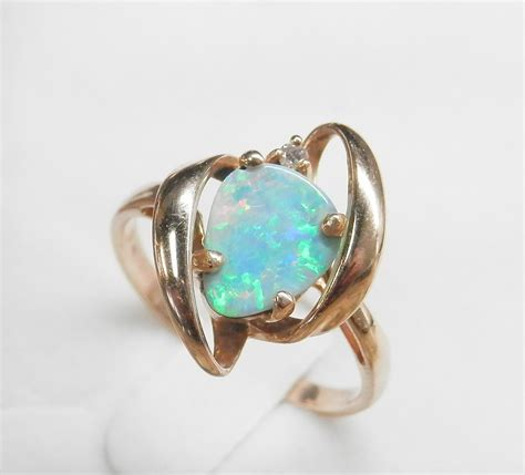 Opel Rings by Australian Black Opal Ring Regal Pawn
