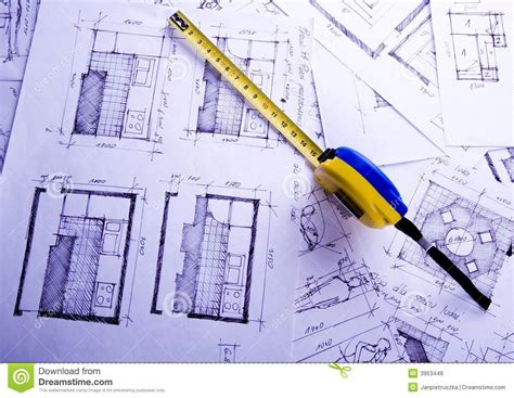 architecture plan royalty  stock  image
