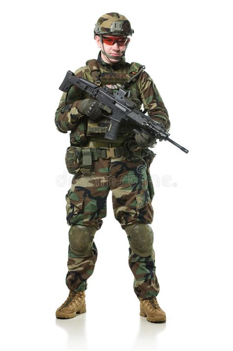 nato soldier  full gear stock image image  soldier