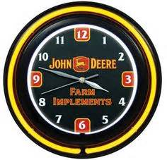 John Deere Grande Green and Yellow Wall Clock