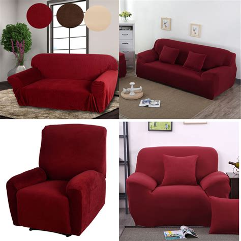 Sofa Recliner Covers by New Stretch Furniture Slipcover Choose From Chair Sofa