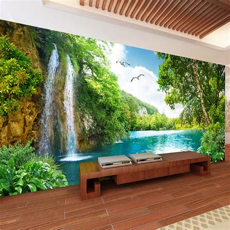 custom  wall mural wallpaper home decor green mountain
