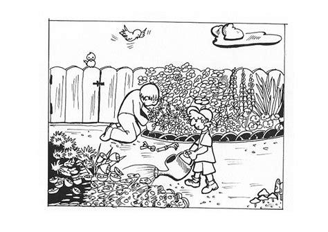 Malvorlage Im Garten Arbeiten  Ausmalbild 9605