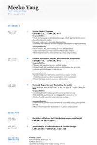 senior web designer cv design resume sles visualcv resume sles database