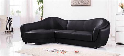 canapé noir canapé d 39 angle gauche cuir noir colorado