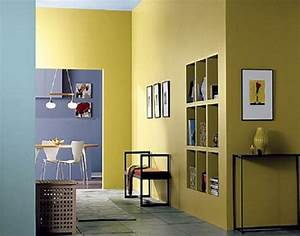 Interior wall paint colors in yellow