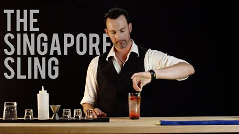 How To Make The Singapore Sling Best Drink Recipes Youtube
