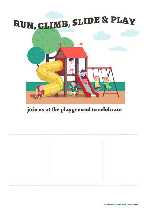 playground run climb   play invitation