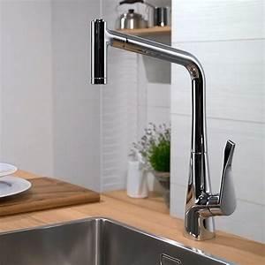 Hansgrohe Metris Select : hansgrohe metris select 320 kitchen mixer tap with pull ~ Watch28wear.com Haus und Dekorationen