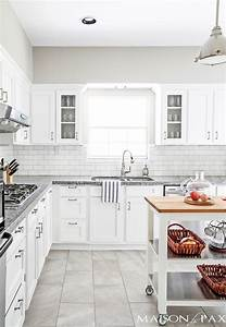 source list for classic white kitchen maison de pax With kitchen colors with white cabinets with super hero wall art
