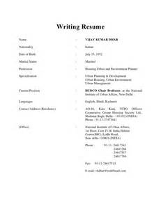 Writing A Resume As A by Writing Resume