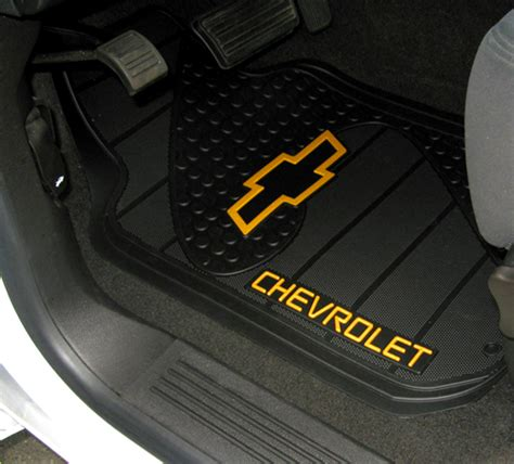 chevrolet bowtie factory molded trim to fit front floor mats chevymall