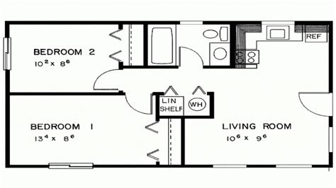 Two Bedroom House Plans Designs Two Bedroom House Floor