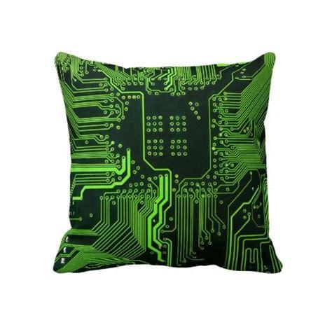 Cool Circuit Board Computer Green Throw Pillow Zazzle