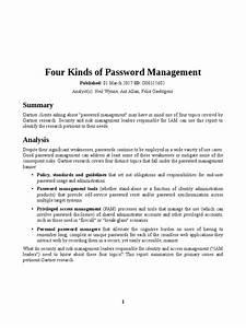 4 Kinds Of Password Management  Gartner Report 03