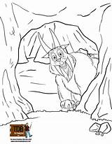 Cave Coloring Pages Printable Fun Getcolorings Hodag sketch template