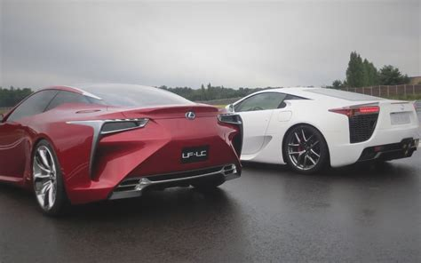 lexus cars back feature flick lexus lf lc concept steals show from lfa