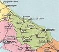 Cartina Puglia Province   Tomveelers