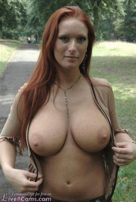 Cute Mature Redhead Outdoors Bare Boobs Rachel