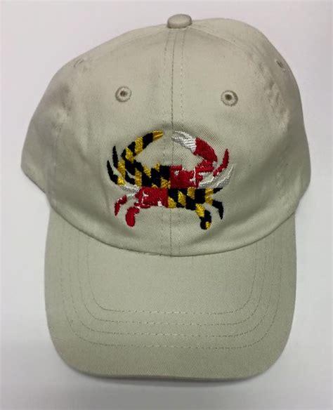 maryland flag crab embroidered baseball cap