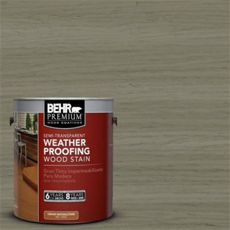 Behr Premium Deck Stain Home Depot by Behr Premium 1 Gal St 144 Gray Seas Semi Transparent