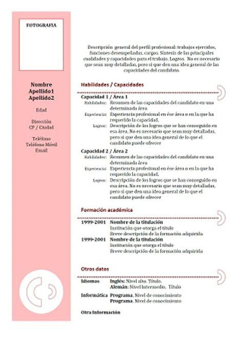 Exemple De Mise En Page De Cv by Exemple De Cv Funcional En Espagnol Mod 232 Le 1