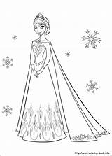 Coloring Elsa Frozen Pages Halloween sketch template
