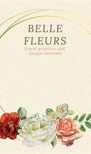 Download premium vector of Floral gold frame on beige ...
