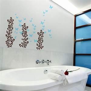 une decoration maline avec des stickers salle de bain With salle de bain design avec décors adhésifs pour ongles