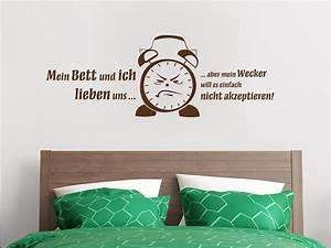 Bilder Für Das Schlafzimmer : wandtattoo wecker spruch von ~ Lateststills.com Haus und Dekorationen