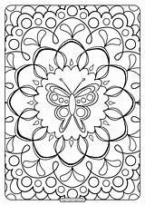 Coloring Printable Adult Butterfly sketch template