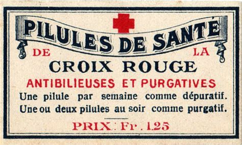 french pharmacy label  graphics fairy