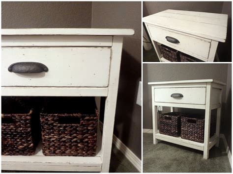 Farmhouse Nightstand by White Farmhouse Bedside Table Diy Projects