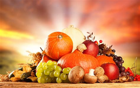 images pumpkin grapes mushrooms food fruit