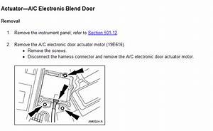 1998 Ford Ranger  Need Wiring Diagram  Blend  Controls  Servo