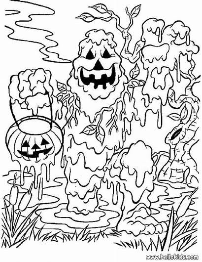 Coloring Halloween Scary Monster Pages Printable Monsters