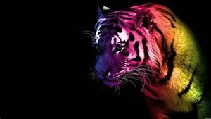 purple fantasy | Tiger - animals, color, tiger, wallpaper ...