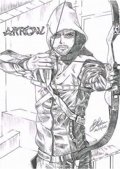 Arrow Coloring Pencil Pages Drawings Sketch Sketches