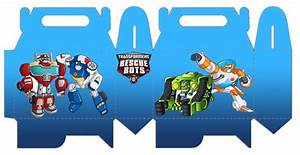 Transformers Rescue Bots: Caja para Lunch, para Imprimir