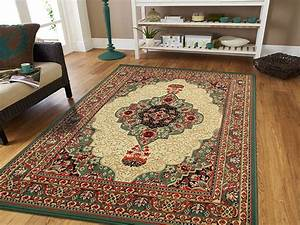 Green, Traditional, Area, Rug, 8x11, Persian, Style, Rug, Dynamix, Rugs, -, Walmart, Com
