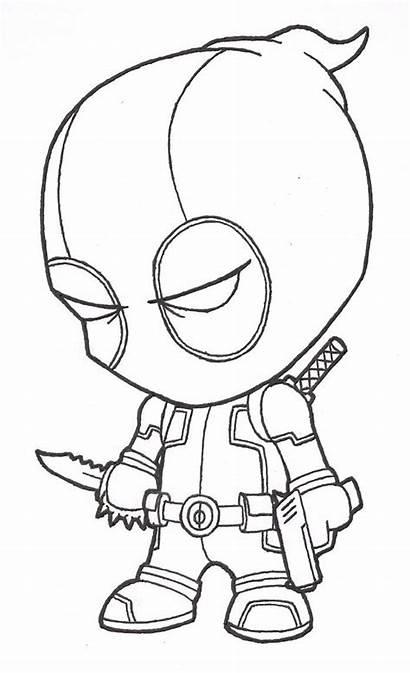 Cool Drawings Pencil Marvel Deadpool