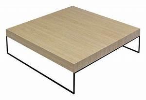 Table Basse Bois Et Noir : table basse home bois clair et acier noir 100 x 100 cm zeus ~ Teatrodelosmanantiales.com Idées de Décoration