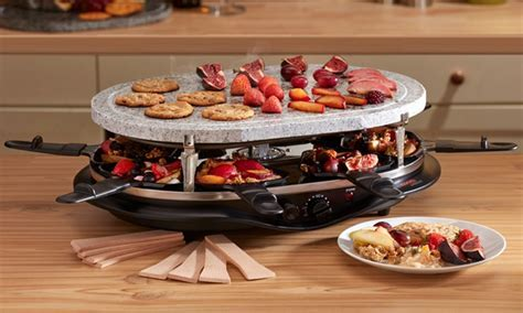 Stone Topped Raclette Grill   Groupon