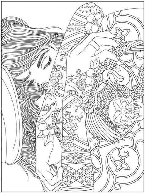 Welcome to Dover Publications: Body Art: Tattoo Designs Coloring Book | Abstract coloring pages